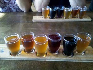 Craftsman Brewing Co. Flight at Blind Lady Ale House