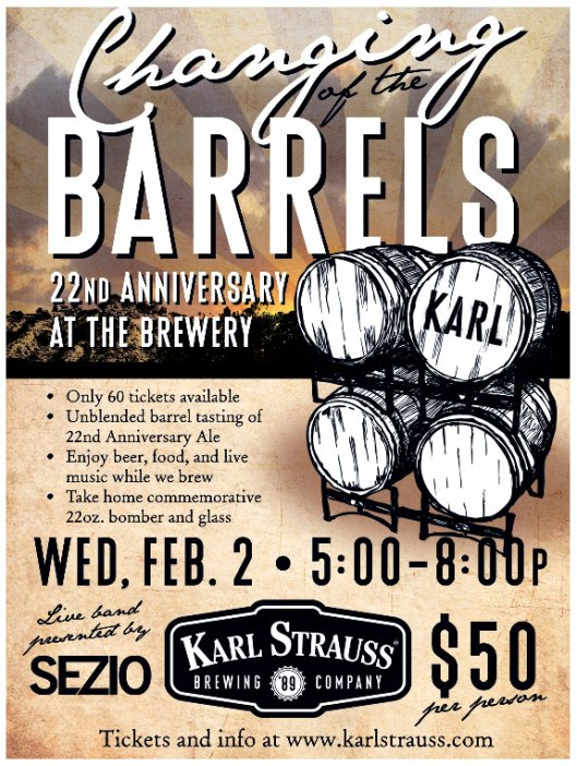 Karl Strauss Changing of the Barrels