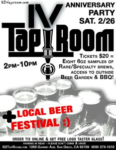 Tap Room 4th Anniversary Flyer