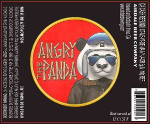The Angry Panda bottle label