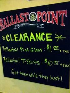 Yellowtail Merch Clearance at Ballast Point Scripps Ranch
