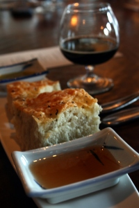 Focaccia, oak-aged French Banyuls Wine Vinegar and Port Brewing Older Viscosity