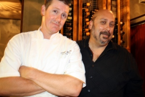 """Baker Brandon Shank (left) and Certified Cicerone """"Dr."""" Bill Sysak"""