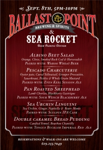 Sea Rocket Ballast Point Dinner