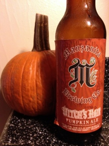 Manzanita Brewing Company Witches Hair Pumpkin Ale